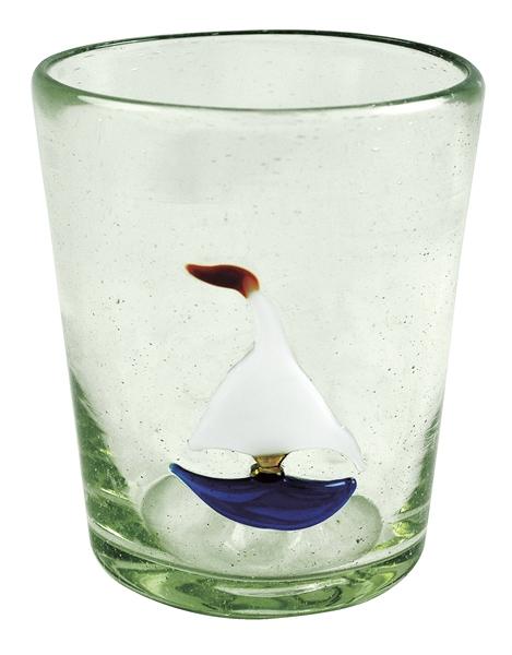 Sailboat icon glass